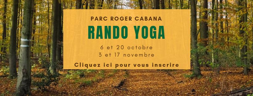 rando yoga au parc roger cabana